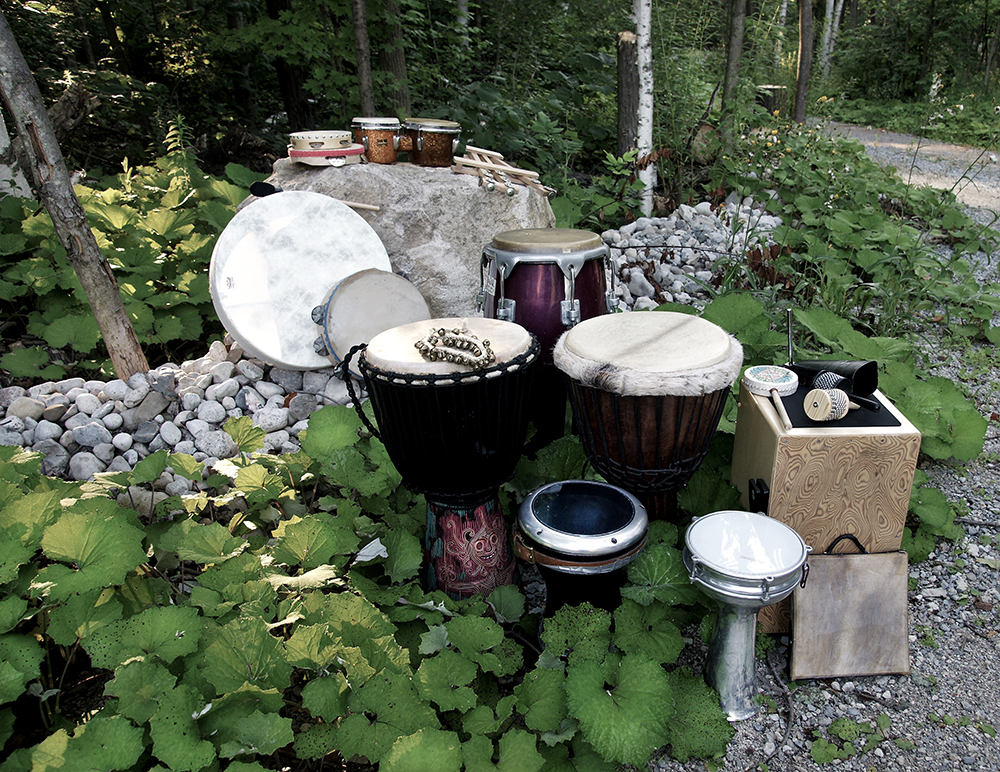 drums in nature